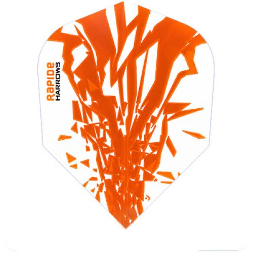 harrows rapide dart flights standard orange