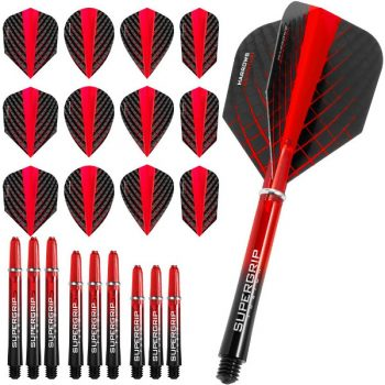 harrows quantum fusion dart flights and shafts combo kit red