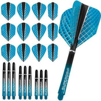 harrows quantum fusion x dart flights and shafts combo kit aqua