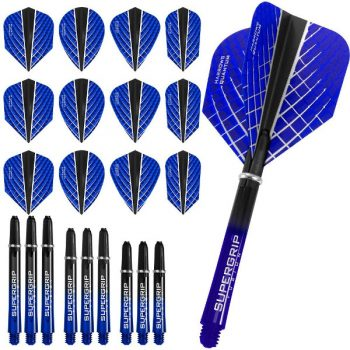harrows quantum fusion x dart flights and shafts combo kit dark blue