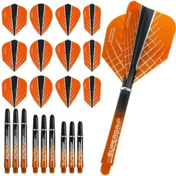 harrows quantum fusion x dart flights and shafts combo kit orange