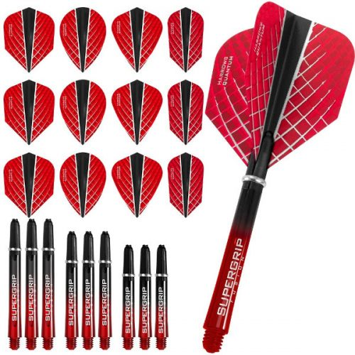 harrows quantum fusion x dart flights and shafts combo kit red