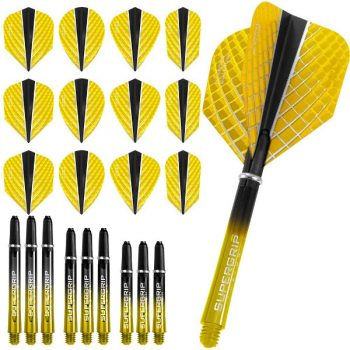 harrows quantum fusion x dart flights and shafts combo kit yellow