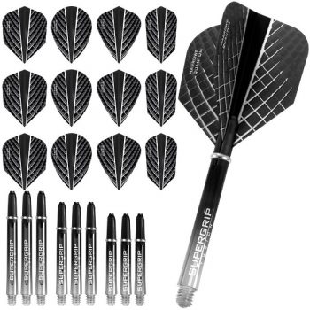 harrows quantum fusion x dart flights and shafts combo kit smokey